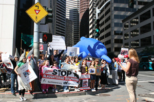 SF dolphin day protest